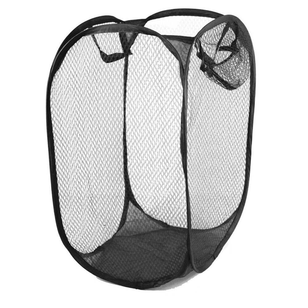 1pc compact lightweight pop up easy open mesh laundry. Black Bedroom Furniture Sets. Home Design Ideas