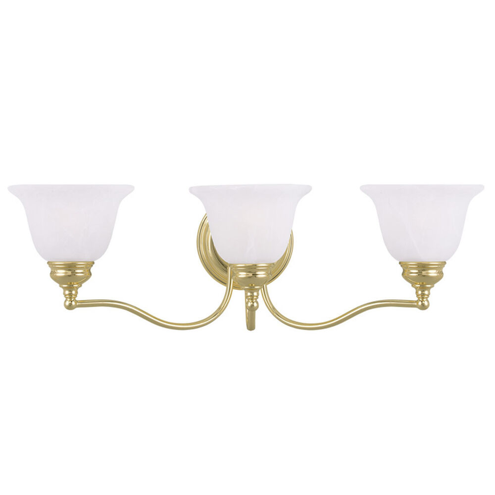 New  Brass ThreeLight Bath Fixture Traditionalbathroomvanitylighting