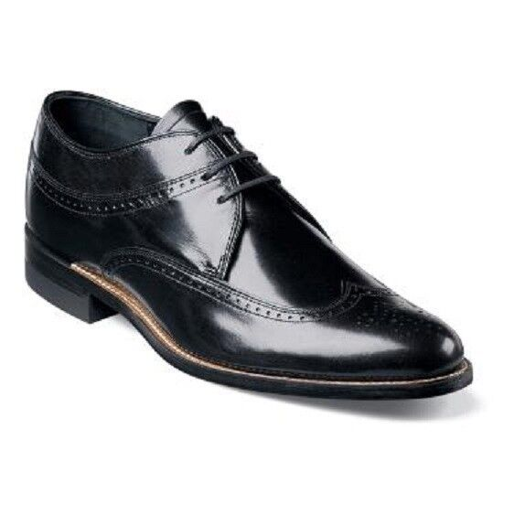 ... Wing Tip Men's Dress Shoes Oxford Leather Lace Up 00327 Black | eBay