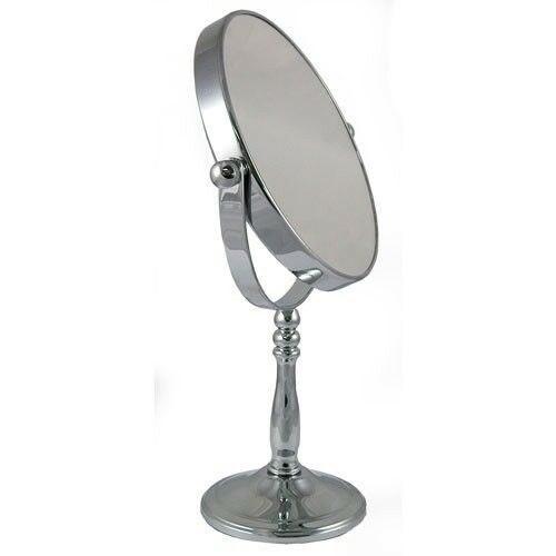 5x Magnification Round Chrome Free Standing Bedroom Or Bathroom Mirror 52718chr Ebay