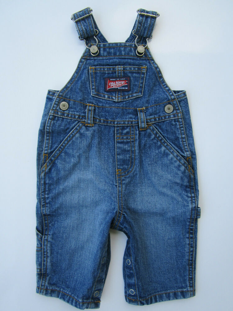 Old Navy Baby 3 6mo Denim Jean Overall Boys Girls