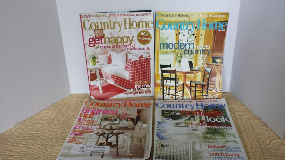 Country home magazines lot of 4 primitives country cottage for Country cottage magazine