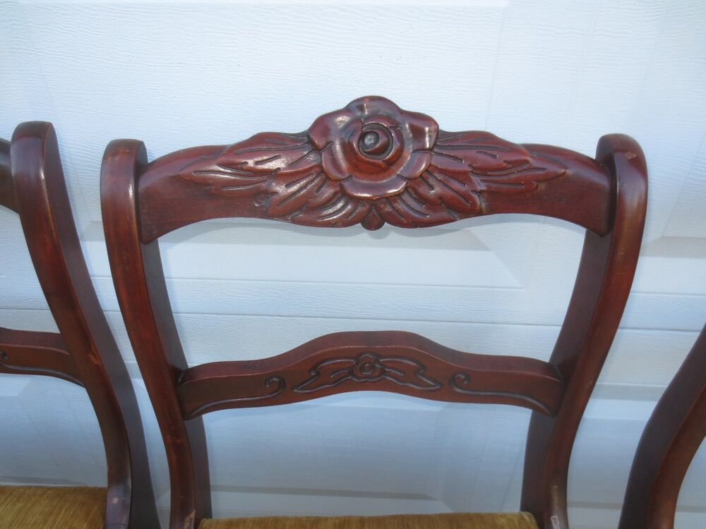 4 Dining Chairs French Country Carved Rose Victorian  : s l1000 from www.ebay.com size 1000 x 750 jpeg 77kB