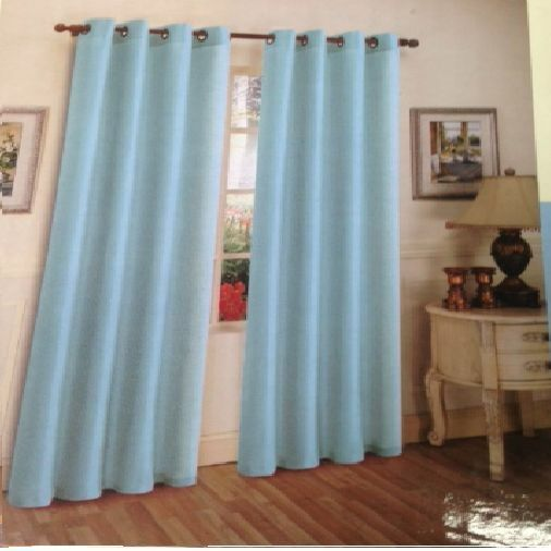 2 LIGHT BLUE PANELS SEMI SHEER GROMMET WINDOW CURTAIN 56 ...