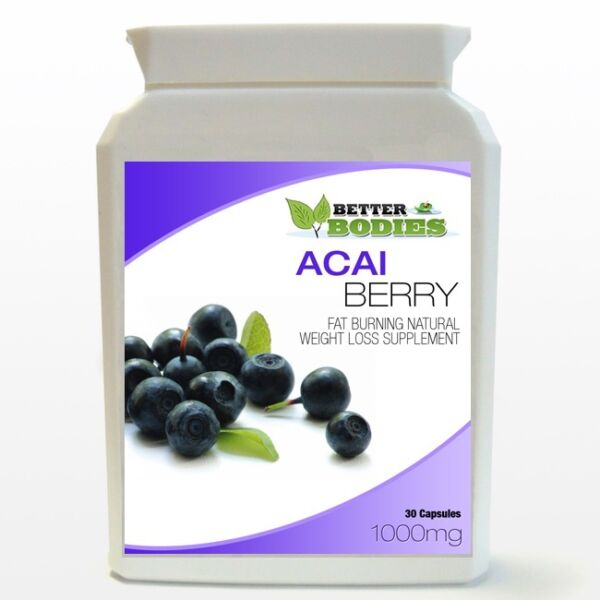 Acai Berry Weight Loss Diet Slimming Capsules 1000mg High Strength Bottle