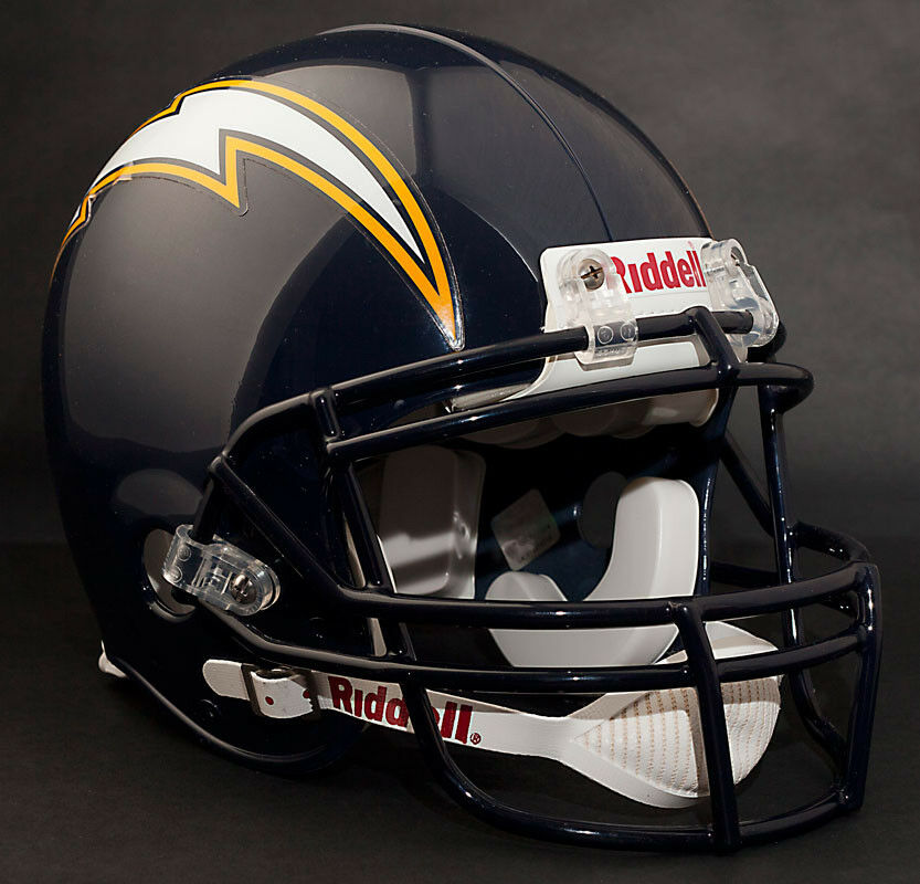 San Diego Chargers Helmets: PHILIP RIVERS SAN DIEGO CHARGERS Schutt ROPO Football