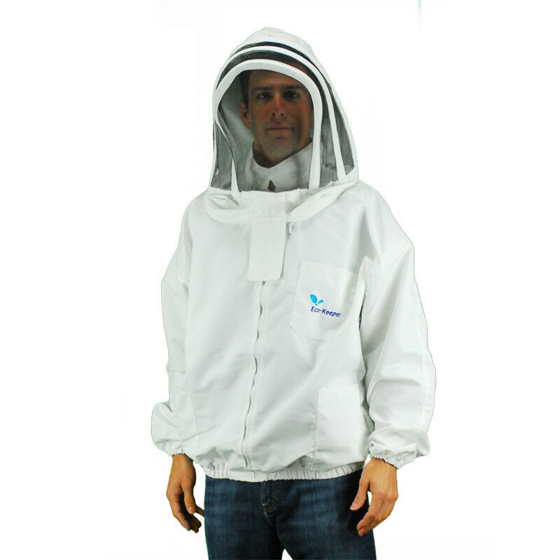 Keeperfinder Com Clothes: Eco Keeper Beekeeping Clothing-Zippered Front Jacket (Bee