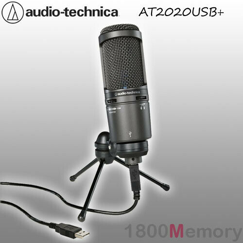 audio technica at2020 usb plus large diaphragm cardioid condenser microphone mic ebay. Black Bedroom Furniture Sets. Home Design Ideas