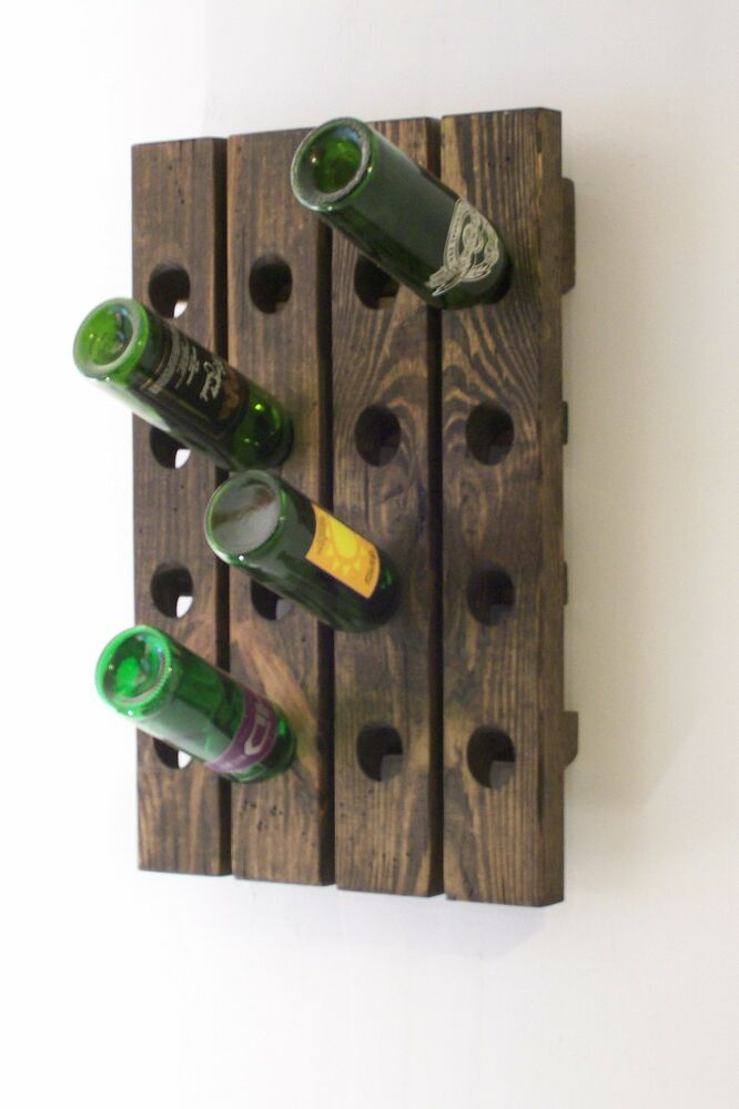 Wine Riddling Rack Distressed Wood Winerack Handcrafted In