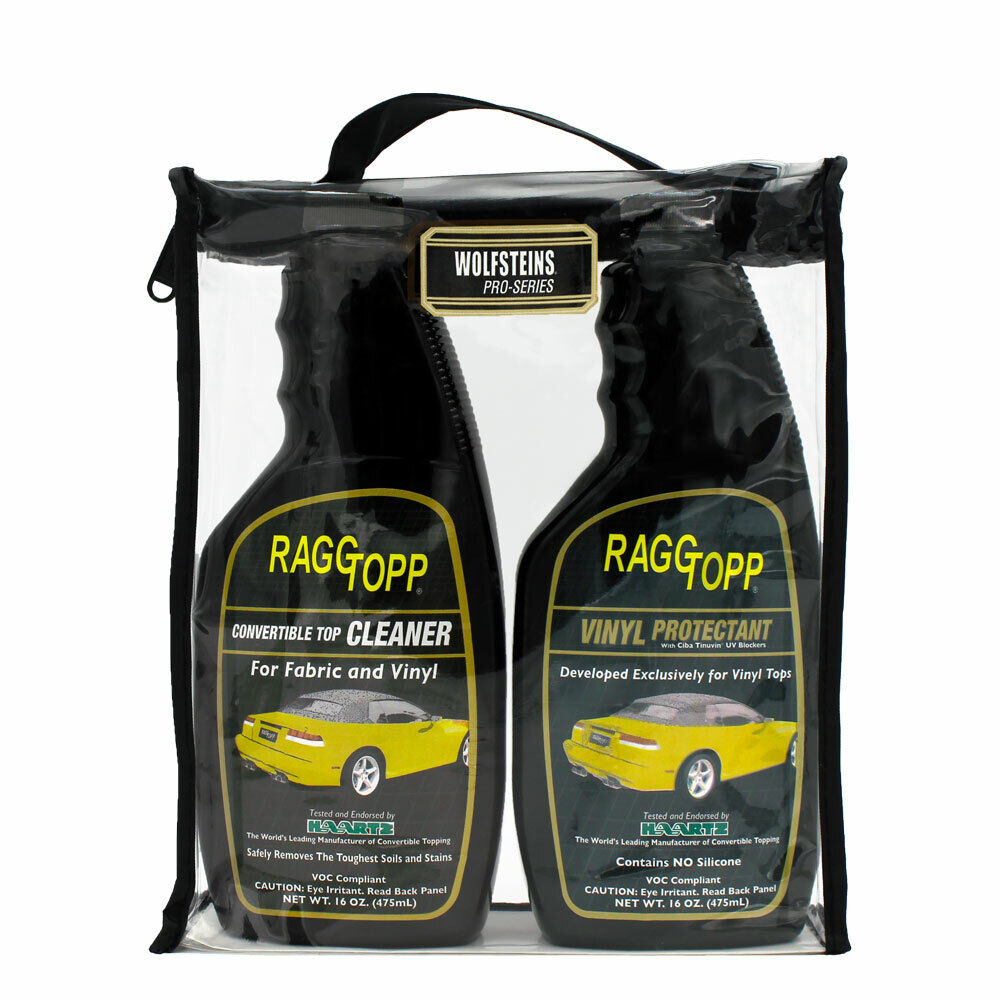 raggtopp vinyl protectant cleaner kit convertible top recommended lincoln ford ebay. Black Bedroom Furniture Sets. Home Design Ideas