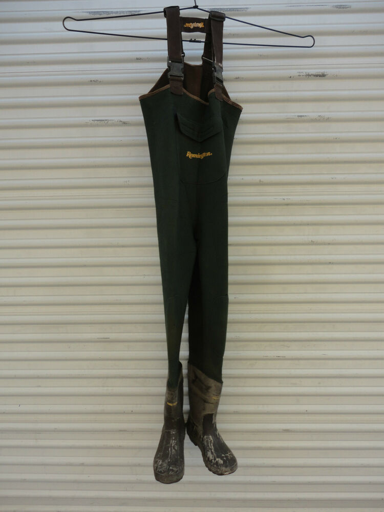 Remington men 39 s size 10 chest high fly fishing waders ebay for Fly fishing waders