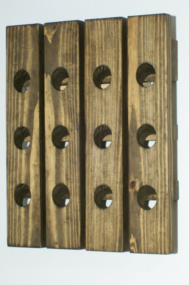 Wood wine riddling rack handmade wood wall hanging wine Hanging wooden wine rack
