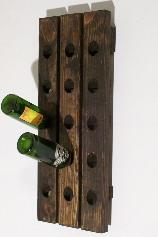wine riddling rack distressed wood handcrafted rustic wall