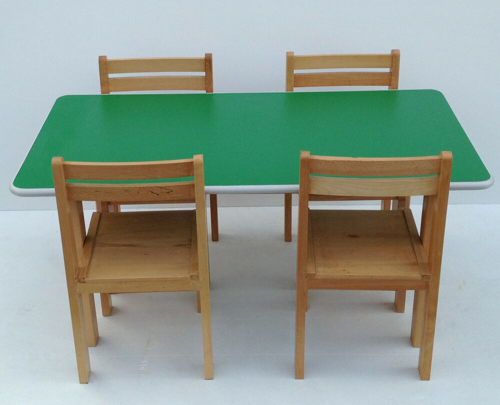 Kids Wooden Stacking Preschool Classroom Playgroup Table Chairs Desk Furniture Ebay