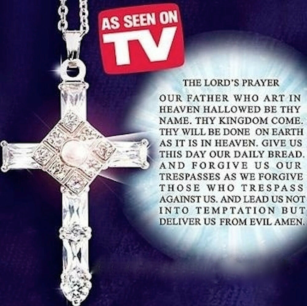 As Seen On Tv The Lord S Prayer Sterling Silver Cross