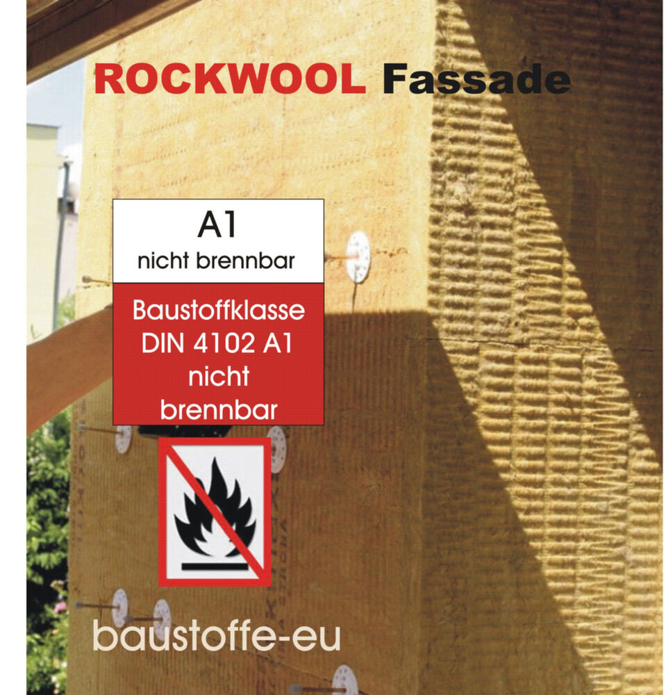 d mmplatte fassadend mmung putztr gerplatte rockwool steinwolle wlg 036 140 mm ebay. Black Bedroom Furniture Sets. Home Design Ideas