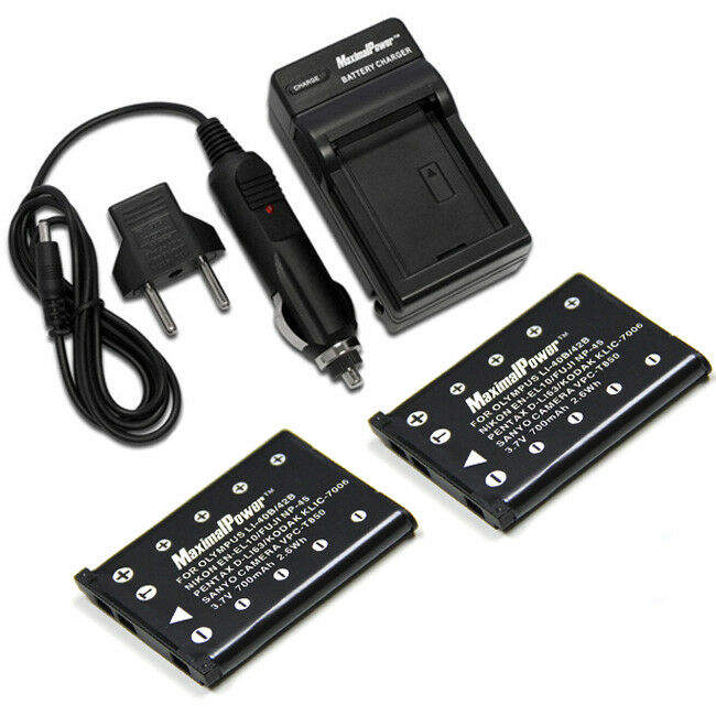 Two Batteries Charger Pack Fujifilm Np 45 Fuji Finepix