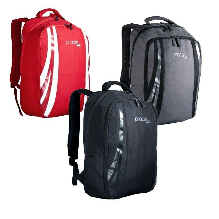 32e69da2ac Details about NWT PUMA Procat Cool Trendy Backpack Reinforced Base Padding  Gray Red Black