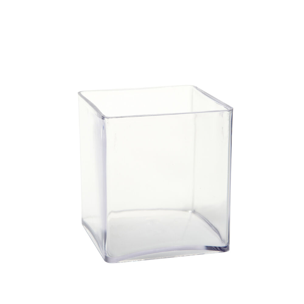 10cm clear acrylic cube vase small lightweight durable for Glass or acrylic