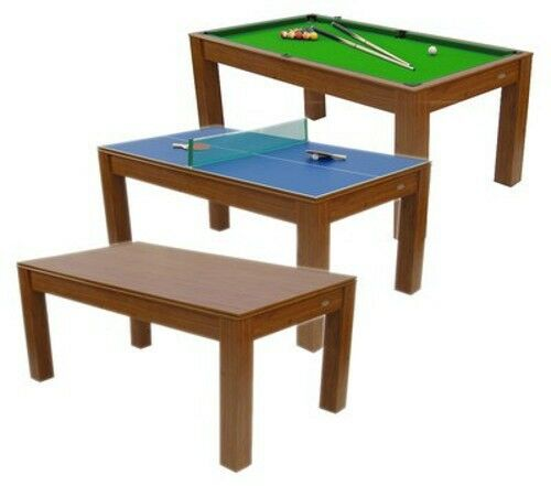 New 6ft mars deluxe 3 in 1 multi games table pool table for Pool table 6 x 3