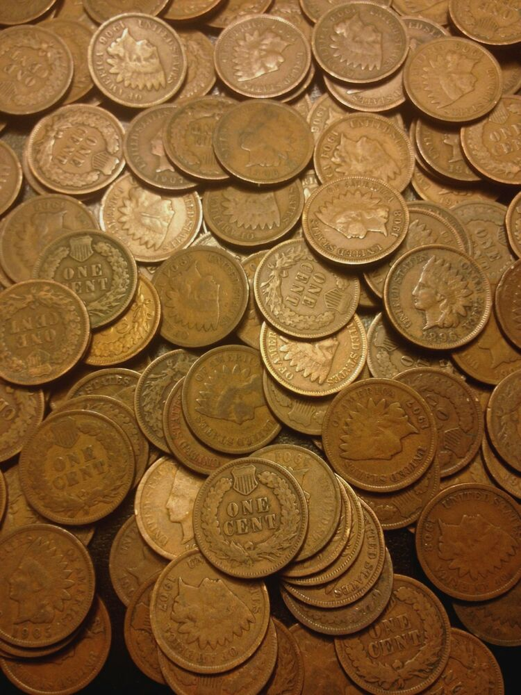 ☆indian Head Us Cent ☆ One 1 Copper Penny Coin ☆ From Estate Sale Lot 1859 1909☆ Ebay