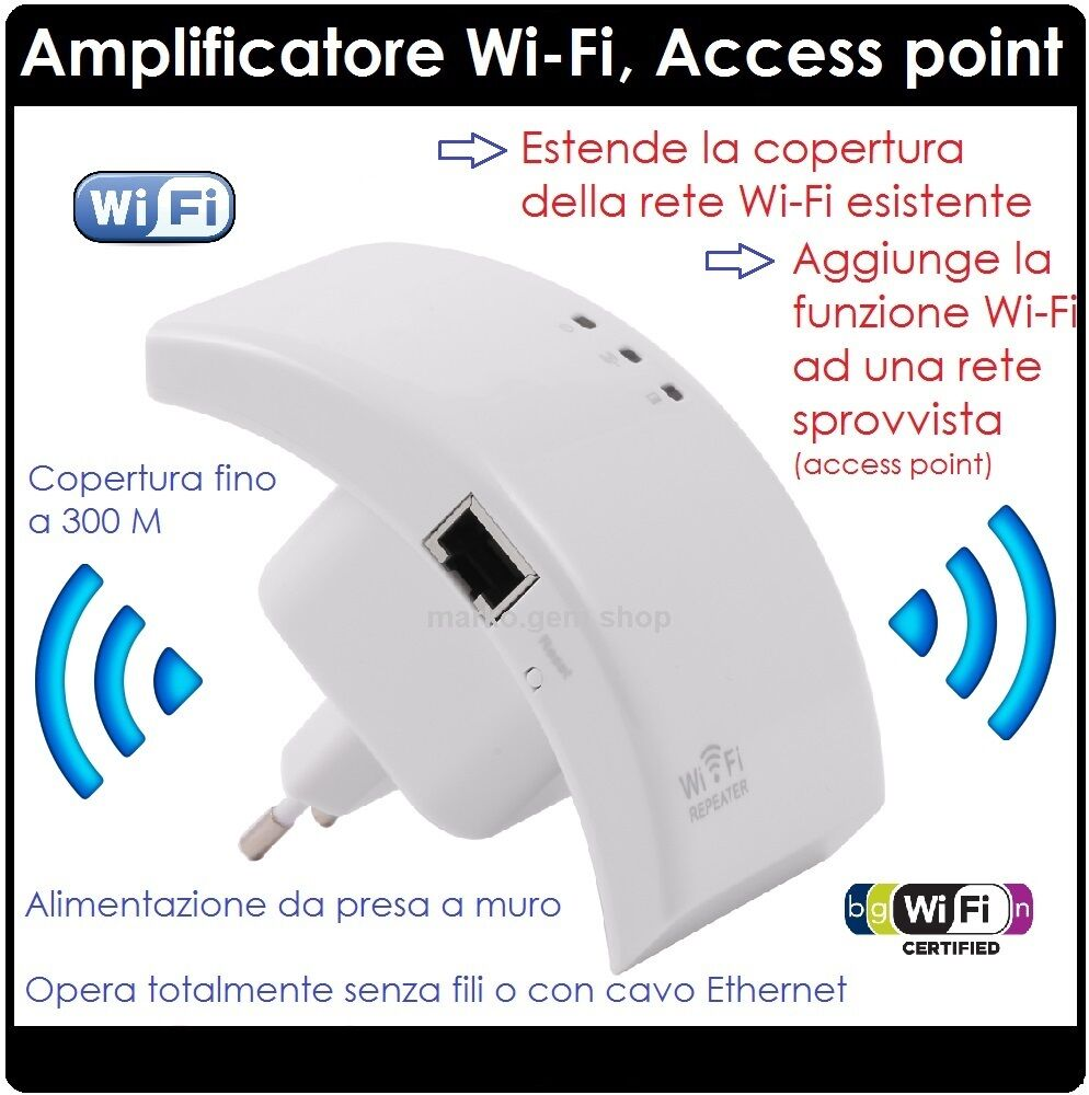 Access point wi fi wifi extender ripetitore wi fi for Point acces wifi exterieur