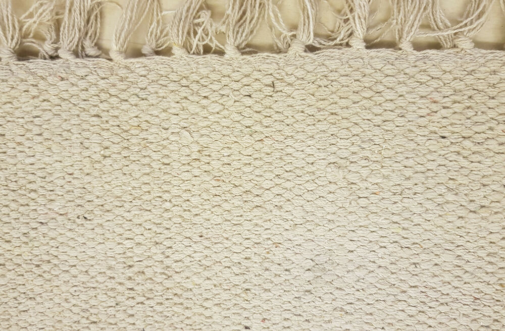 100 Cotton Woven Rugs 2 Sizes Large Sizes Heather Grey