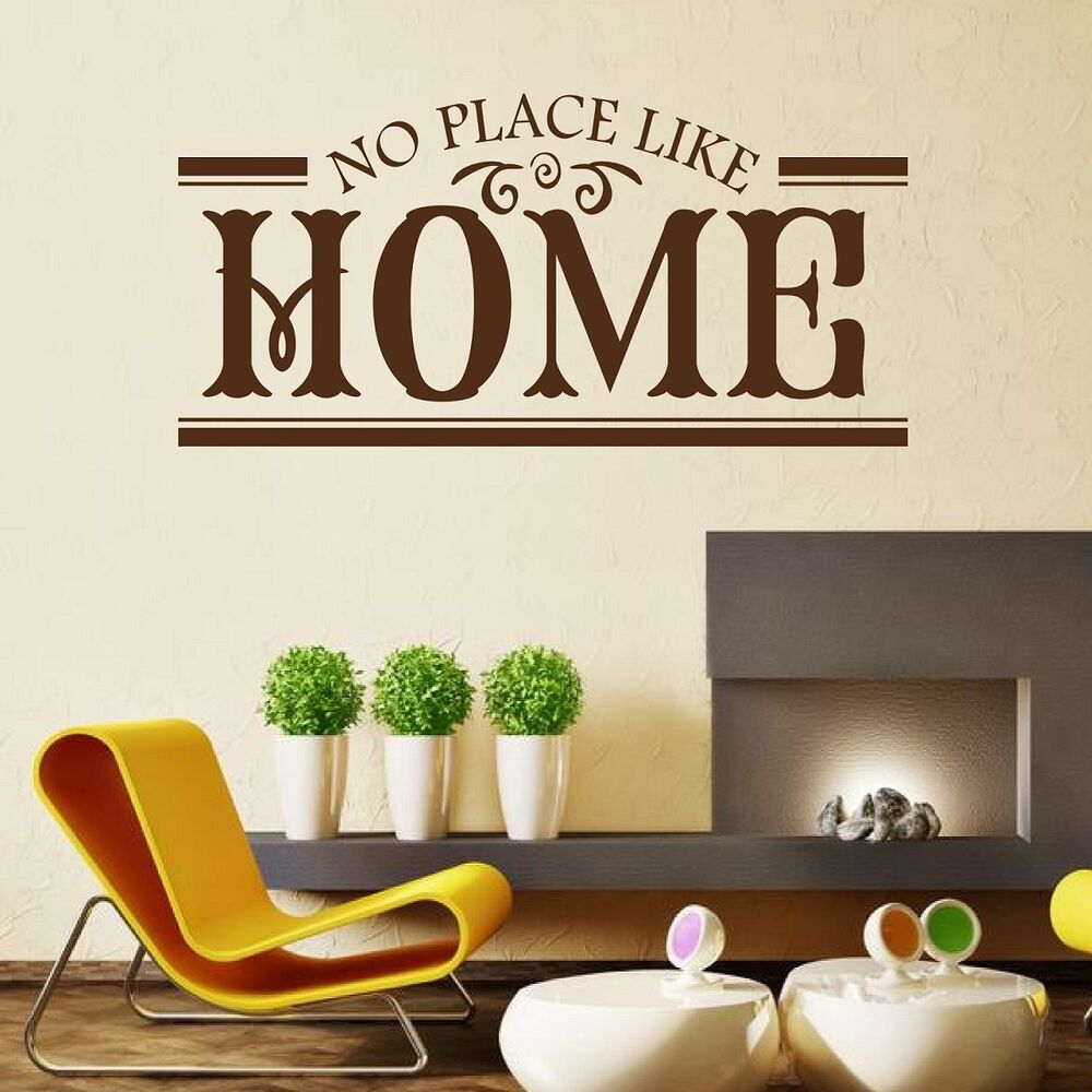 No place like home wall quote sticker decal wall art home for Home decor places