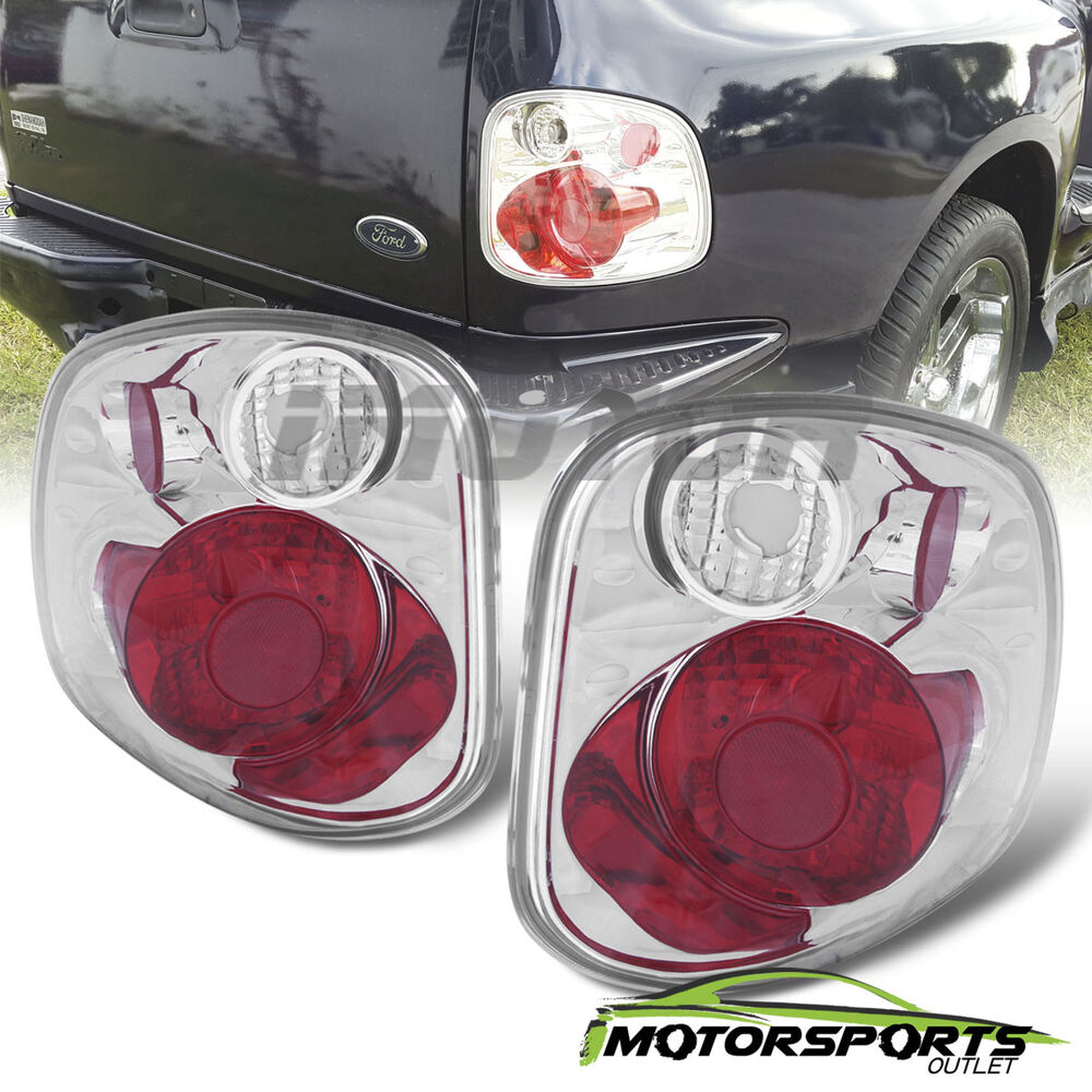 2001 2002 2003 ford f 150 flareside red clear rear brake tail lights. Black Bedroom Furniture Sets. Home Design Ideas