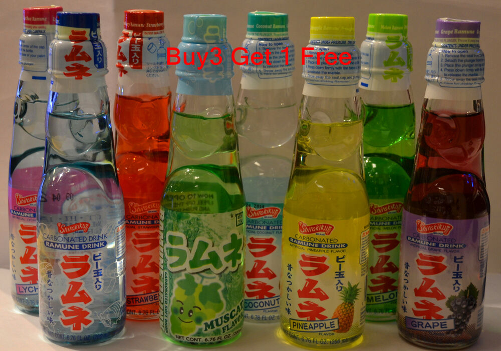 Ramune Japanese Soda 6.76 oz Carbonate Marble Soft Drink ...