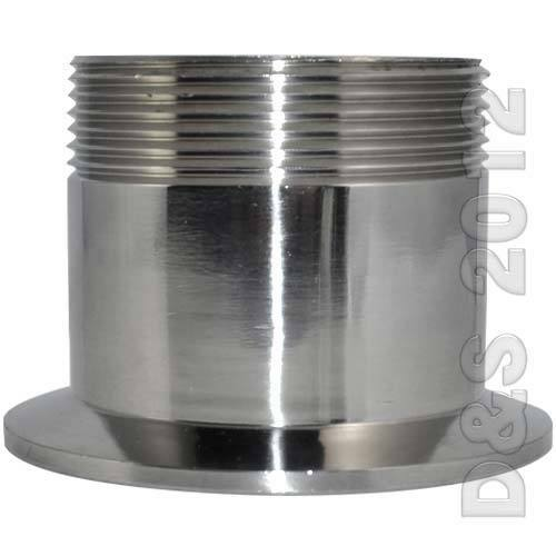 Quot sanitary male threaded npt ferrule pipe fitting to