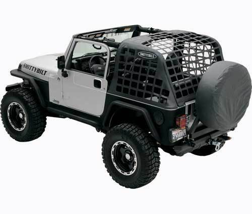 Jeep Yj Cargo Net Over The Roll Bar Cres From Smittybilt