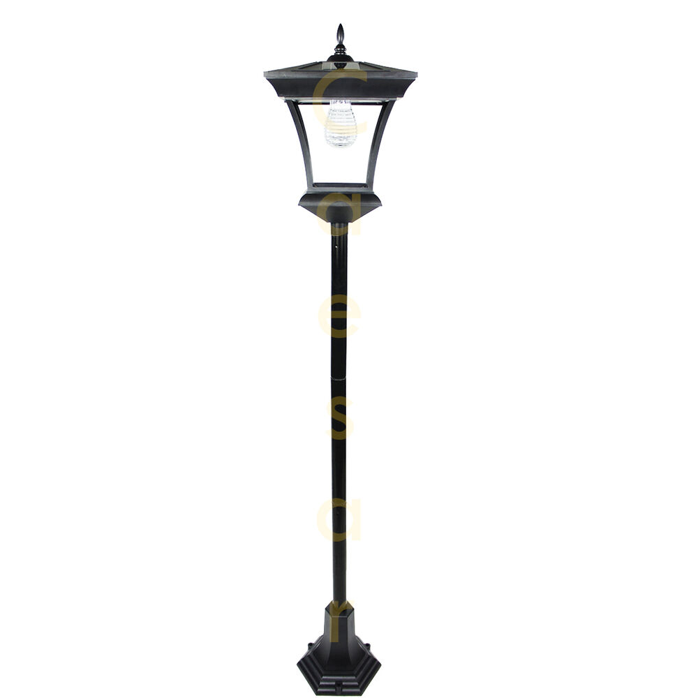 5 FT Outdoor Garden Solar Lamp Post Path Light With 7 LEDs Street Vintage Sty