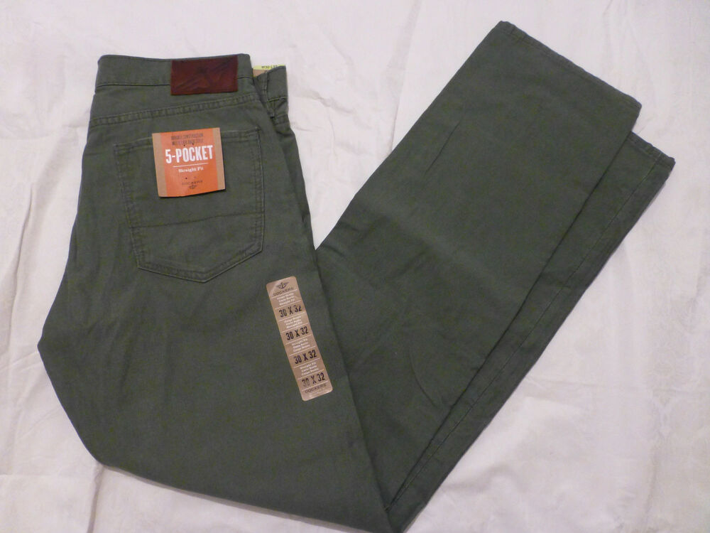 Nwt Mens Dockers 5 Pocket Straight Fit Pants Flat Front