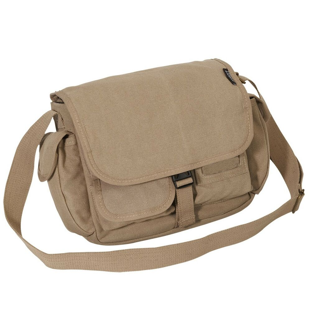 "12"" Womens Mens Casual Canvas book Hand Satchel Messanger ..."