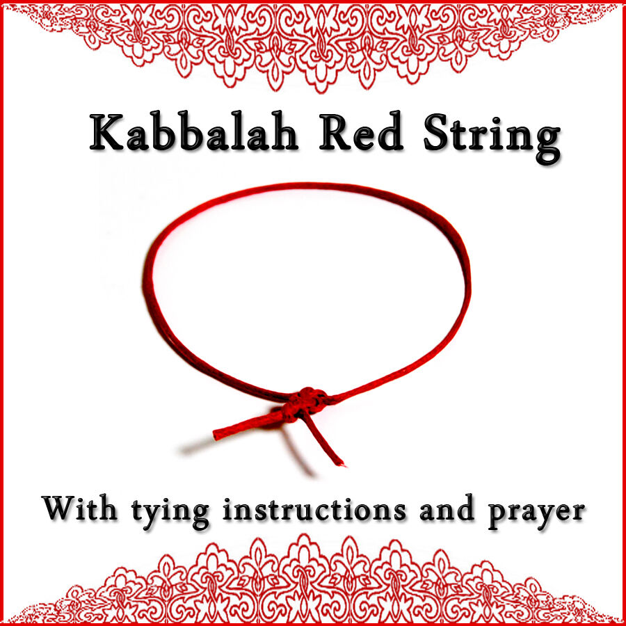 Kabbalah Red String Bracelet + tying instructions + Ben Porat prayer Protection! eBay