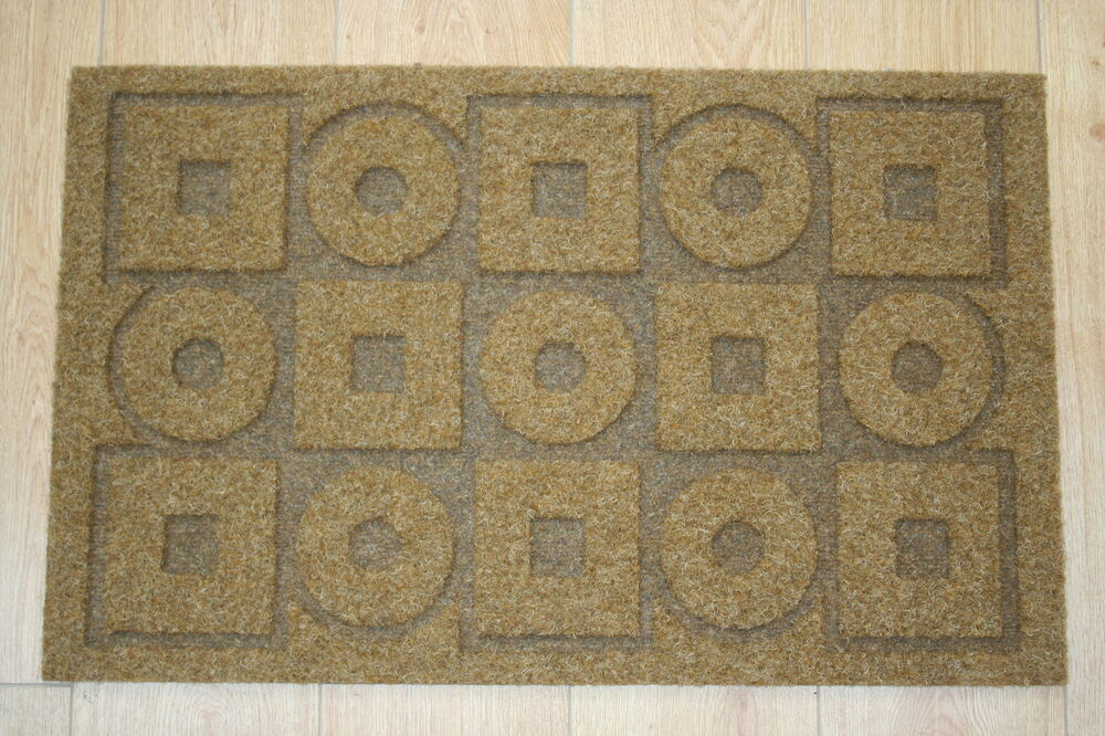 large coir mat style 7 designs 80cm x 50cm front back door mats