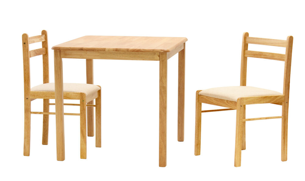 dinnite small square dining table with two chairs natural finish