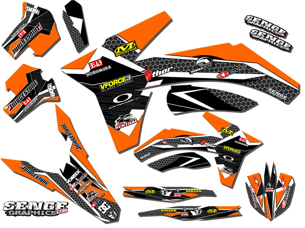 2012 2013 ktm exc exc f excf xcfw 350 500 graphics kit deco decals stickers ebay