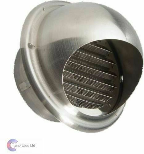 4 Quot 100mm Brushed Steel External Wall Cowl Ducting Bathroom