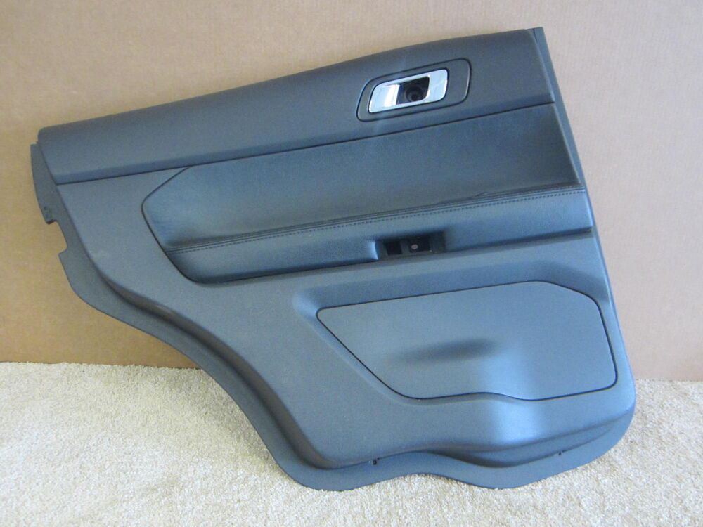 ford explorer oem left rear inside black door pad panel. Black Bedroom Furniture Sets. Home Design Ideas