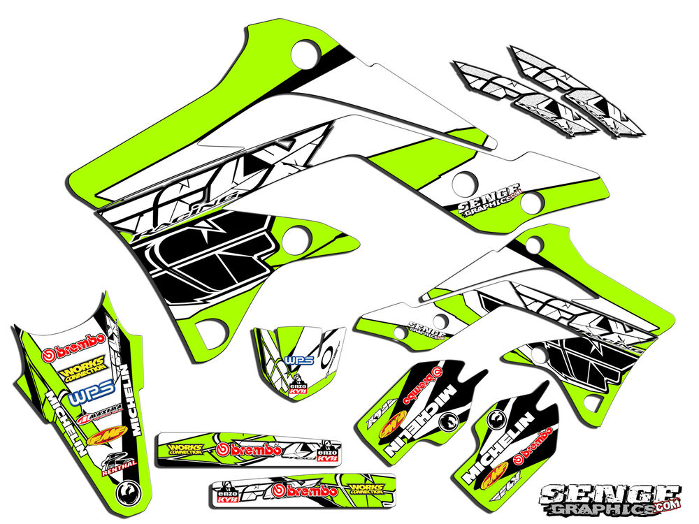 2001 2013 kx 85 100 graphics kit kawasaki kx85 kx100 for Sticker deco