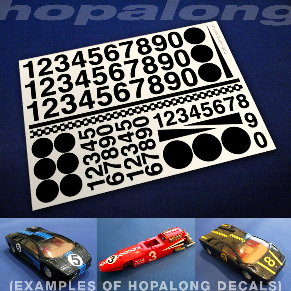 Details about scalextric slot car 1 32 scale sticker decals now in 8 colour options