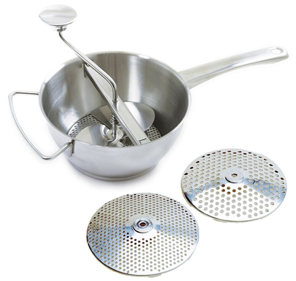 Norpro 595 Food Mill Ricer Strainer 2qt With 2 Discs 18 10