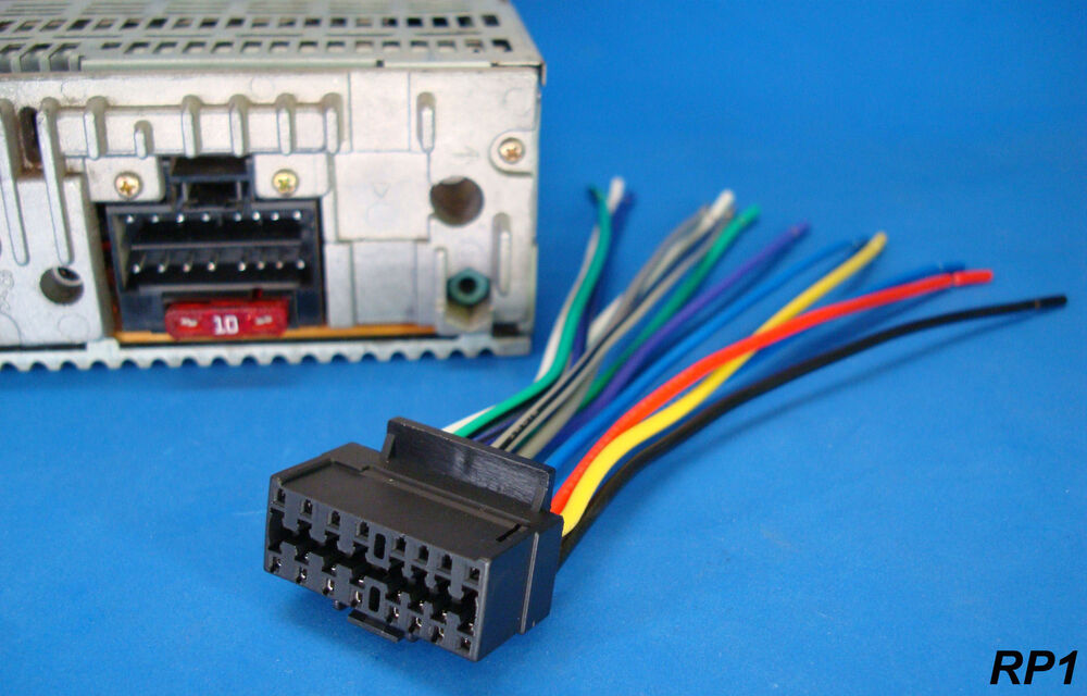 s l1000 new sony xplod 16 pin radio wire harness car audio stereo power sony car cd player wiring harness at aneh.co