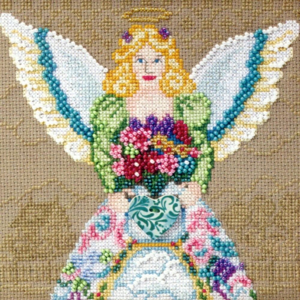 beaded cross stitch kit mill hill 2010 jim