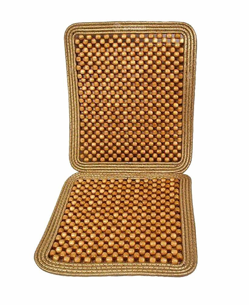zone tech natural wooden beaded massage seat cushion car. Black Bedroom Furniture Sets. Home Design Ideas