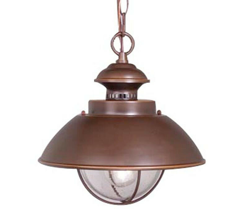 Vaxcel Harwich Outdoor Porch Burnished Bronze Pendant Lighting Lamp OD21506BB