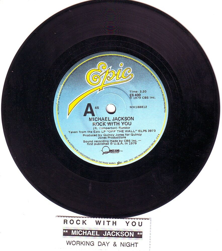 Michael Jackson Rock With You 7 Quot 45 Rpm Vinyl Record
