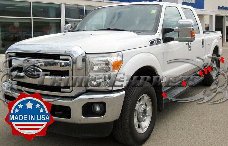 2011 2016 ford f 250 f 350 crew cab short bed rocker panel trim 6 12pc ebay. Black Bedroom Furniture Sets. Home Design Ideas